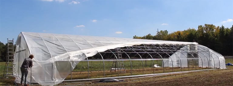 Greenhouse Plastic for greenhouse roll up sides